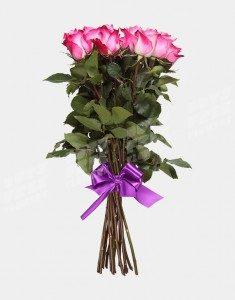 Букет из 15 сиреневых роз