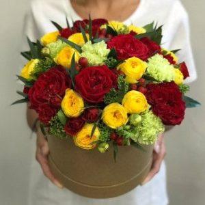 Цветы в коробке Карибский Закат