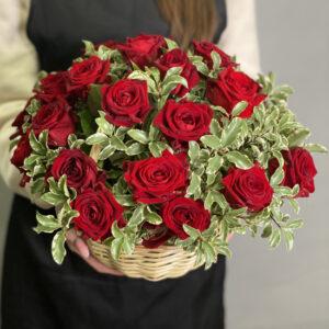 Корзина цветов Рандеву